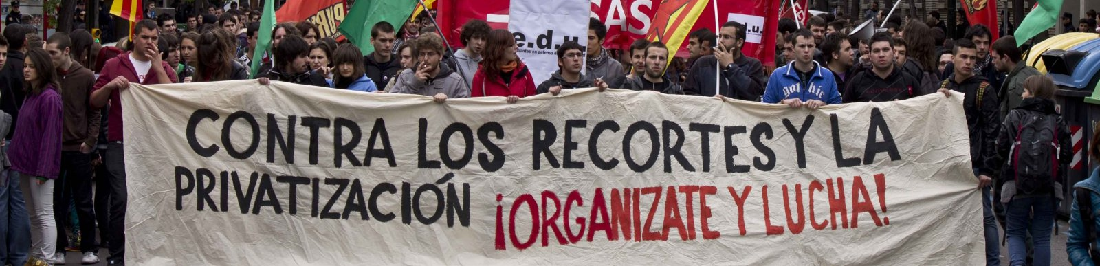 Student demonstration against cuts in public education, April 2012, Zaragoza, Spain