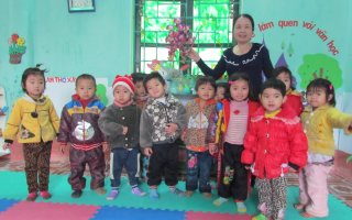 Kindergarten in Northwest Vietnam