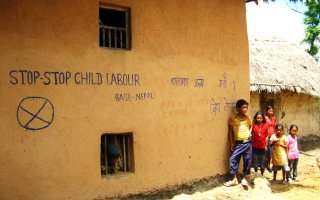 Stop Child Labor Graffiti